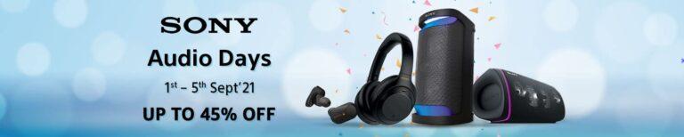 Sony Audio Days 2021 Sale